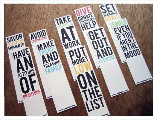 Printable Bookmarks Happiness Rules By Empapers On Etsy