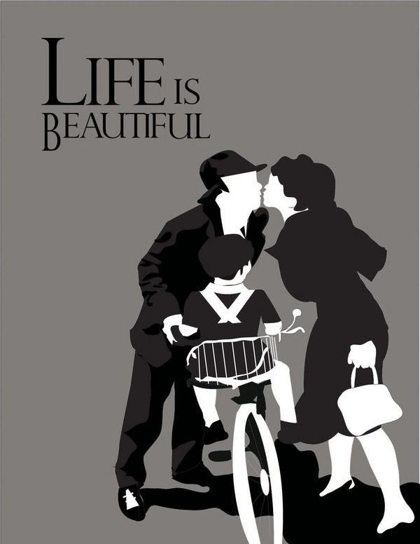 Life is Beautiful - Minimalist Movie Poster