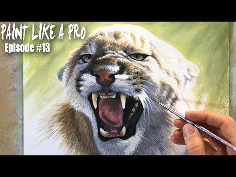 How To Paint Fur and Realism - Mixed-media | Paint Like A Pro #13 - YouTube