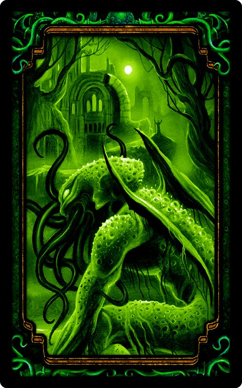 """Card Back Design - from the party game """"Arkham Nights"""" by Dann Kriss Games, with art by Ian Daniels © 2015"""