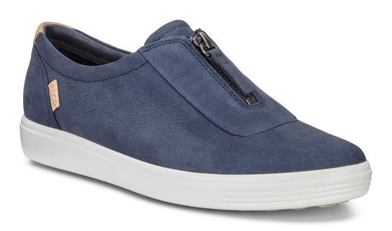 af47280f20 ECCO Womens Soft 7 Zip (MARINE) | Ecco shoes | Women slip on ...