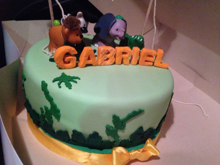 #torta baby shower, #torta animals de la selva
