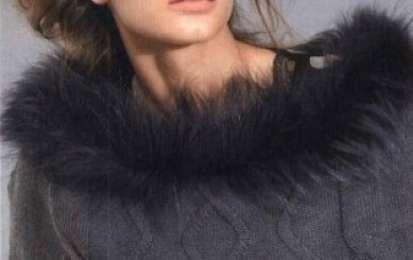 Lavori ai ferri: una mantella con un tocco di pelliccia - Un lavoro a maglia per impreziosire il vostro guardaroba. Si tratta di una mantella che abbiamo impreziosito per l'occasione con un collo di pelliccia. Vediamo insieme come realizzarlo.