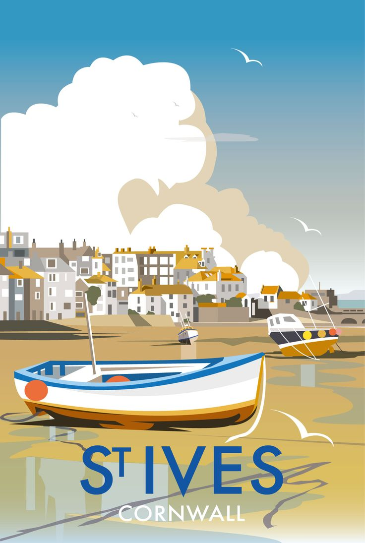 St Ives Harbour (DT04) Beach and Coastal Print http://www.thewhistlefish.com/product/p-dt04-st-ives-harbour-art-print-by-dave-thompson #stives #cornwall