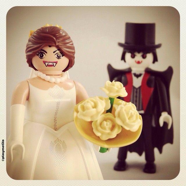 Boda vampira #playmobil #playmotito #playmoween #halloween #bride #novia #marriage #matrimonio #dracula #vampiro