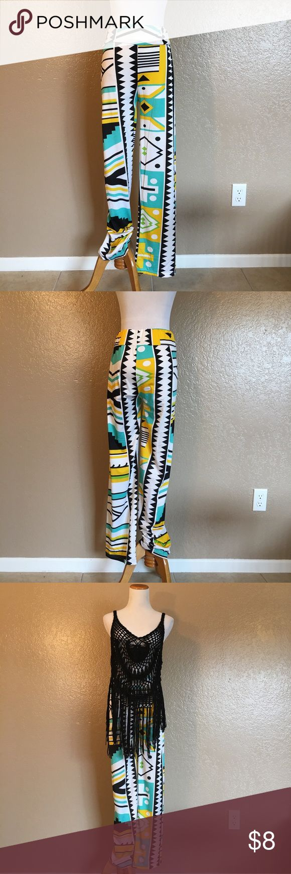 Aztec Print Pants NWOT Size small. NWOT || Bundle outfit for Buy1Get1 50% off!!  Feel free to message me with any questions or for bundle discount inquiries. Prices are negotiable, all reasonable offers are accepted! Thanks for viewing my items!  -Styles by Class A Pants Trousers