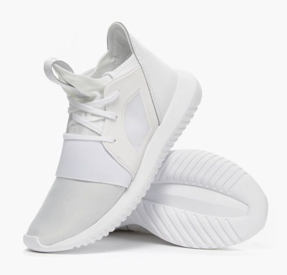 adidas Originals Presents an All White Tubular Defiant- I've got in it Cream and Black