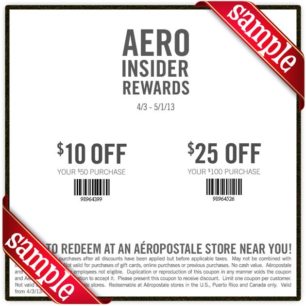 Discount coupons for aeropostale