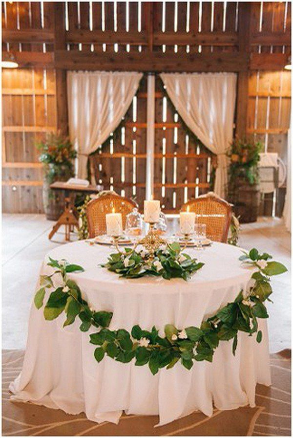 15 Romantic Wedding Sweetheart Table Decoration Ideas - Page
