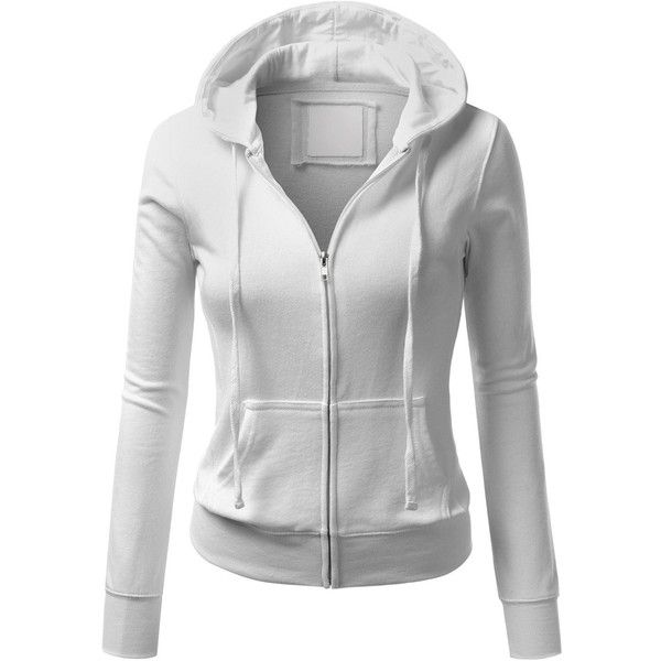 J.TOMSON Womens Thin Zip-Up Long Sleeve Hoodie ($20) ❤ liked on Polyvore featuring tops, hoodies, jackets, outerwear, sweaters, zip up hoodies, hooded pullover, thin hoodie, thin hoodies and zip up tops