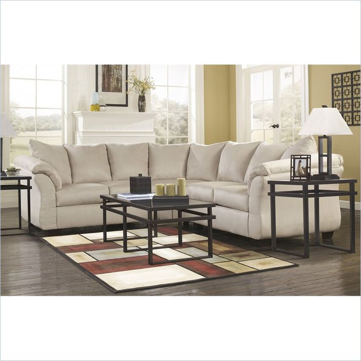 signature design by ashley furniture darcy sectional in stone lowest price online on all signature design by ashley furniture darcy sectional in stone