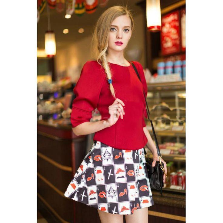 kırmızı gündelik bayan #japon #stlye #elbise