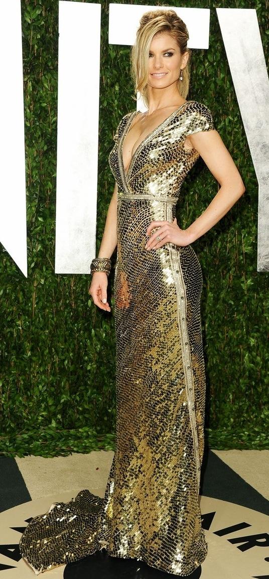 Vanity Fair Oscar party 2012 - Marisa Miller in a gown by Johanna Johnson
