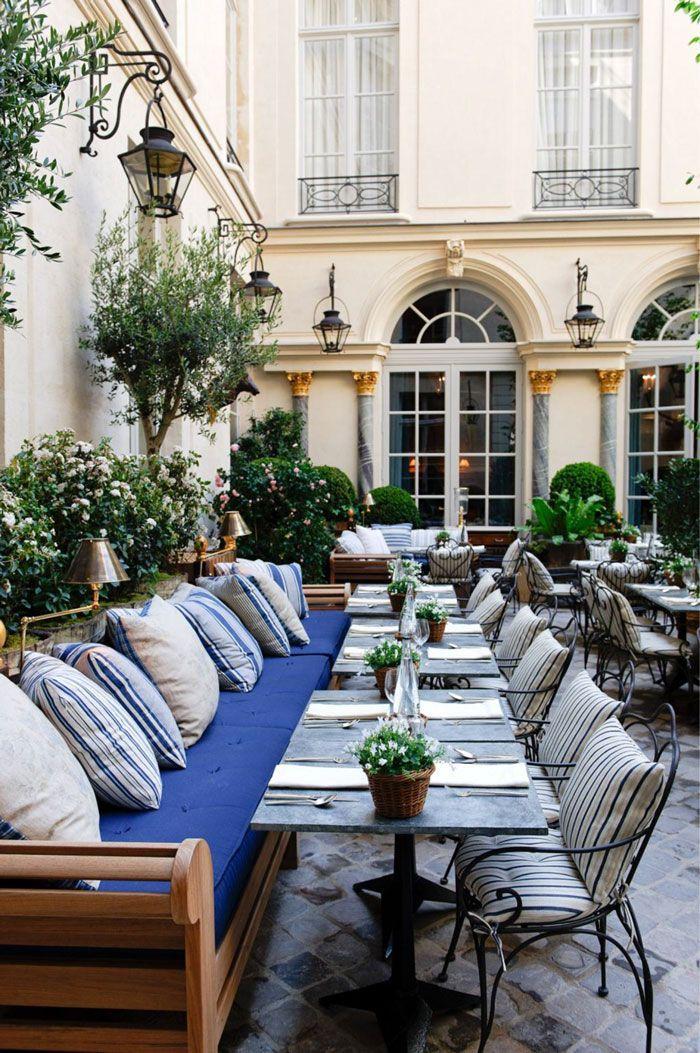 .OUTDOOR SEATING...............Ralph's Cafe (Ralph Lauren), Paris.