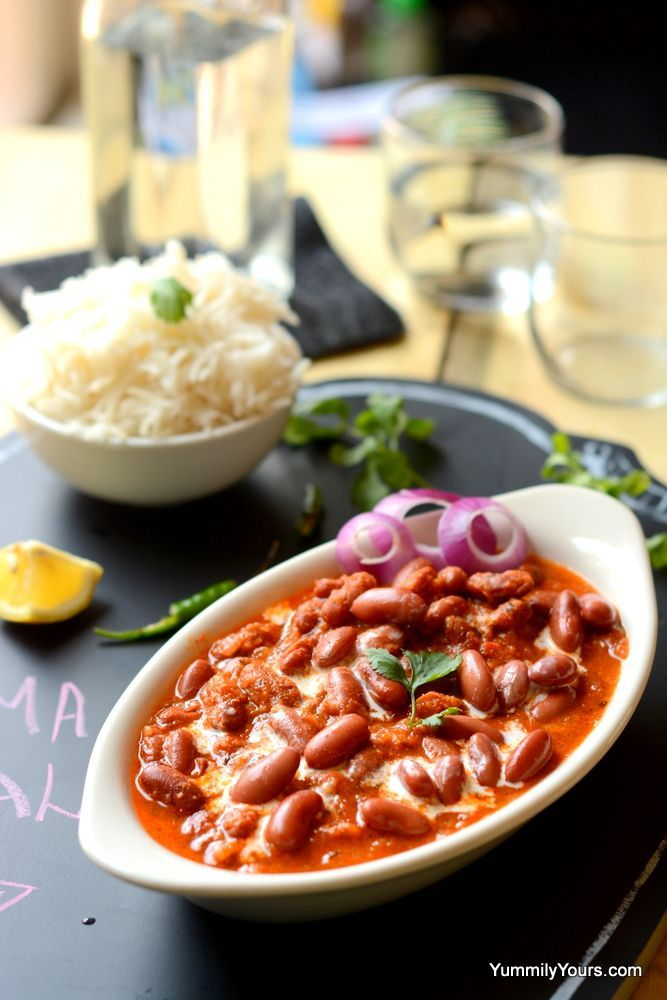 Soft kidney beans in a very popular Punjabi curry. This curry brings the best out of kidney beans