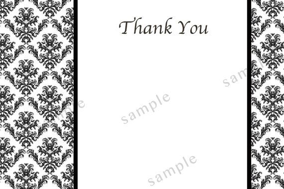 thank you cards printable black and white