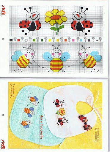 Bees and lady bugs.
