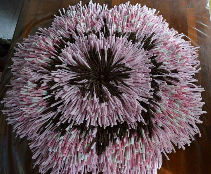 Alfombra con forma d flor