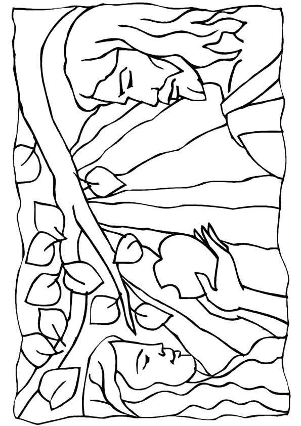 Print coloring image journaling and bible for Adam eve coloring pages