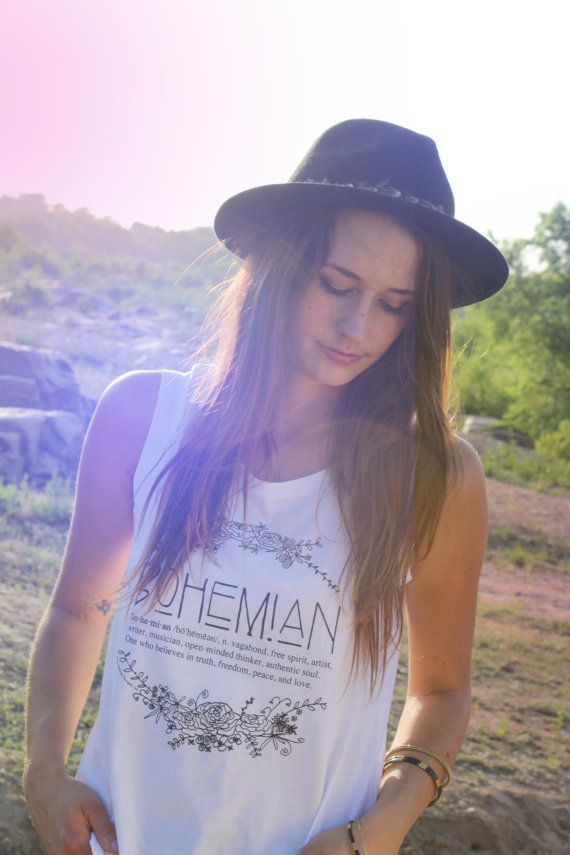 Define Bohemian shirt in size MEDIUM. Bo·he·mi·an /bō'hēmēən/, n. vagabond, free spirit, artist, writer, musician, open-minded thinker, authentic