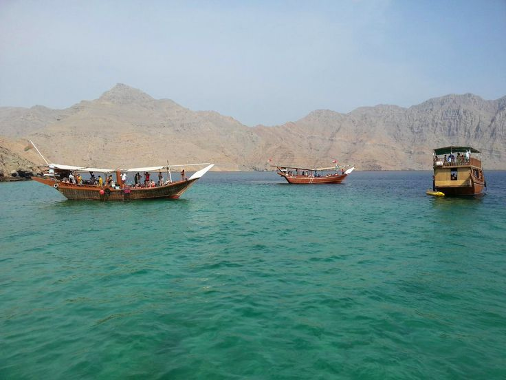 Turquoise waters in Oman