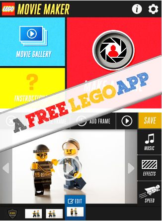 A FREE LEGO App that kids can make stop motion movies - kids learn how stop motion picture works hands-on and be creative at the same time
