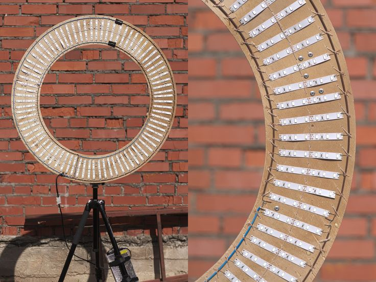 How To Build A Mega 84cm, 480 LEDs Ring Light For $35