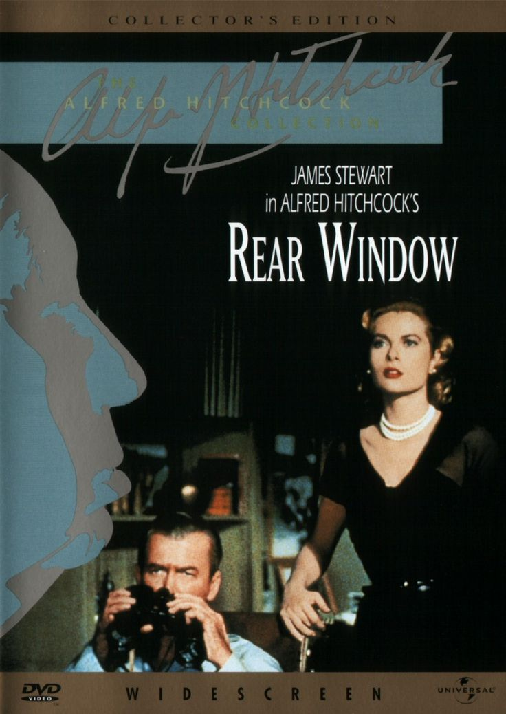 "James Stewart and Grace Kelly - ""Rear Window"" (1954) - A wheelchair bound photographer spies on his neighbours from his apartment window and becomes convinced one of them has committed murder."