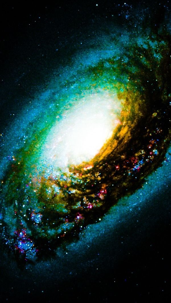 M64 The Black Eye Galaxy Hubble Palette Credit: NASA/Hubble, Color/Effects thedemon-hauntedworld