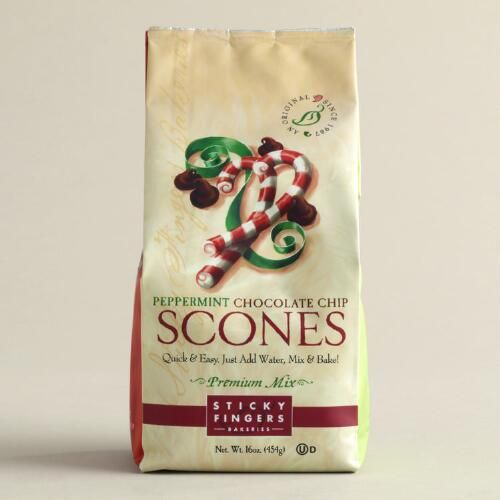 One of my favorite discoveries at WorldMarket.com: Sticky Fingers Bakeries Mint Chocolate Scone Mix, Set of 6