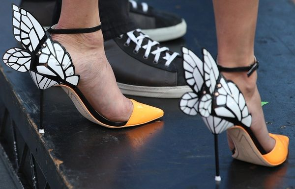 Nina Dobrev Celebrates Birthday in Sophia Webster Butterfly Shoes: