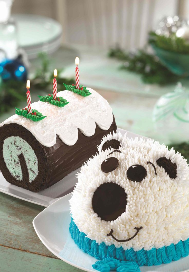 Yule Log Roll Cake Baskin Robbins