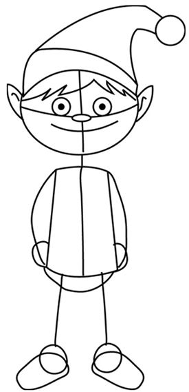 How to Draw Santa�s Christmas Elf with Step by Step Elves Drawing Tutorial