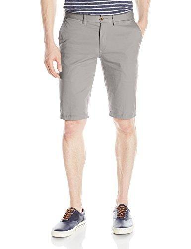 Ben Sherman Men's Stretch Slim Chino Short, Light Ash, 34