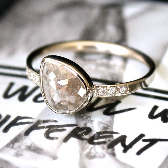 Love the idea of a diamond slice. The raw inside is much prettier than the polished sparkly outside.