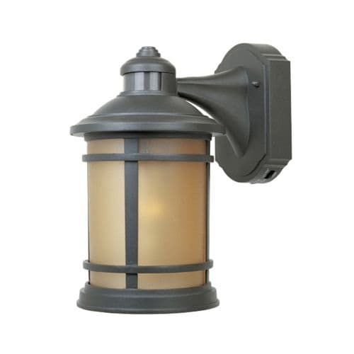 Designers Fountain 2371MD-ORB 1 Light 7 Cast Aluminum Wall Lantern with Motion Detector, Gold