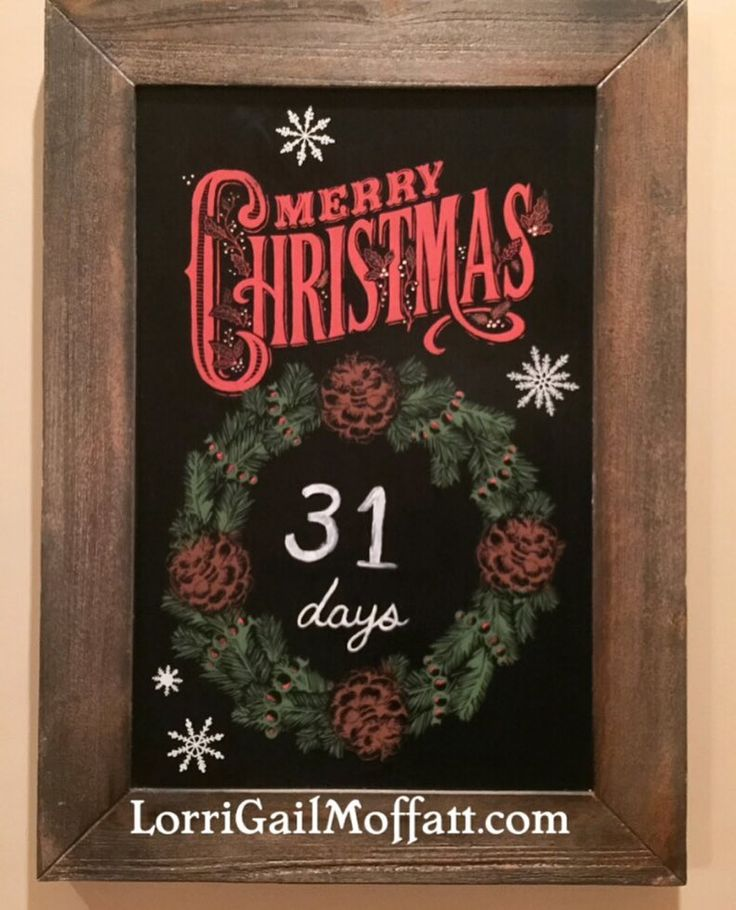 CHRISTMAS countdown, JOIN our team!!!  selling high end chalk boards, silk screen transfers, chalk paste, magnets, chalkology, chalk couture, family gallery wall, blackboard, chalk ... more info? www.nomoreuglychalkboards.com