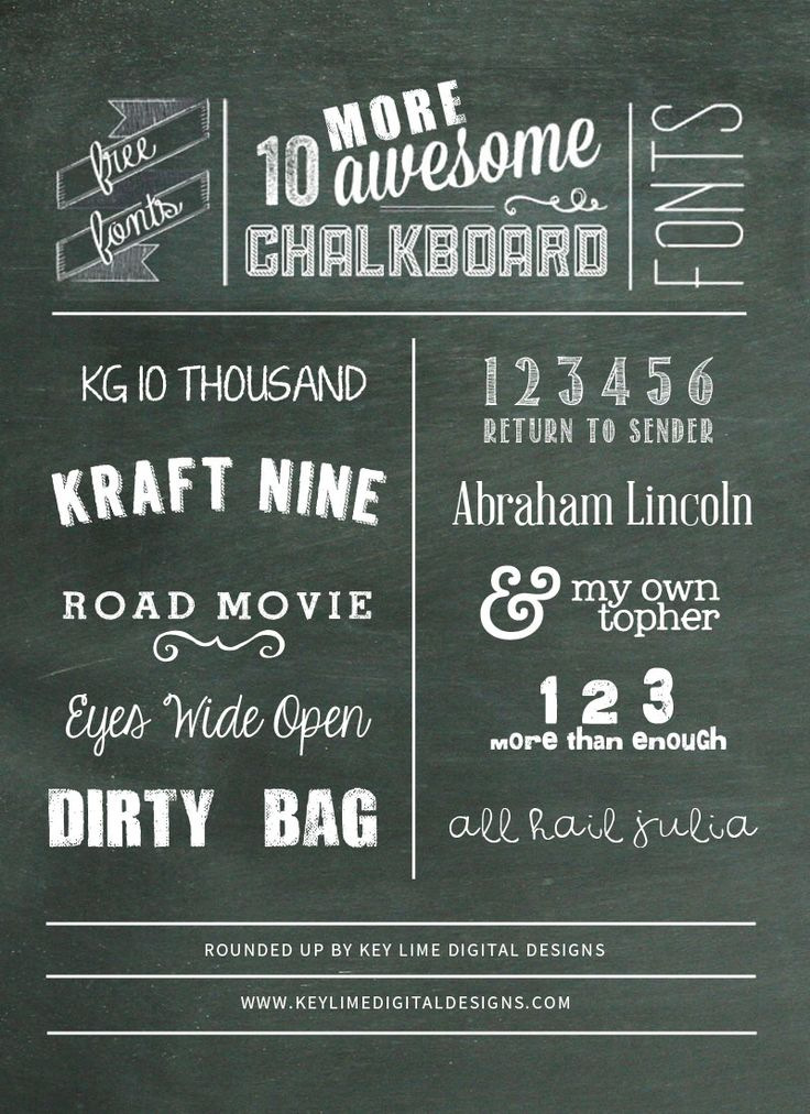 10 MORE Free Chalkboard Fonts