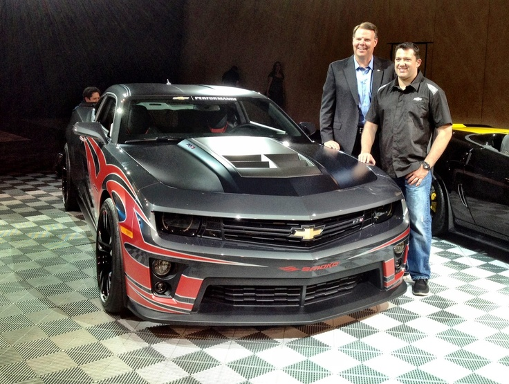 Two of the biggest names in Chevy performance: Tony Stewart and Camaro have teamed up for a legendary concept vehicle! Check out the Chevy Camaro ZL1 Tony Stewart Show Car Concept.