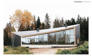 NEAR THE FOREST by SA lab. Private house in St-Petersburg, Russia salab.org #SAlab #parametric #architecture #private #house #building #modern #villa #panoramic #view
