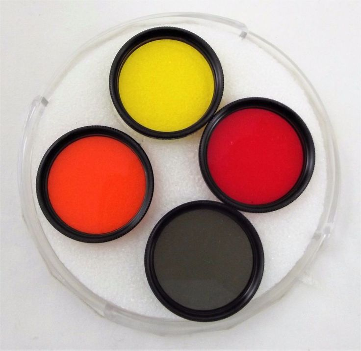 Sigma 30.5 Filter Set R60 Red Y52 Yellow O56 Orange and ND4X Green w/Case #Sigma