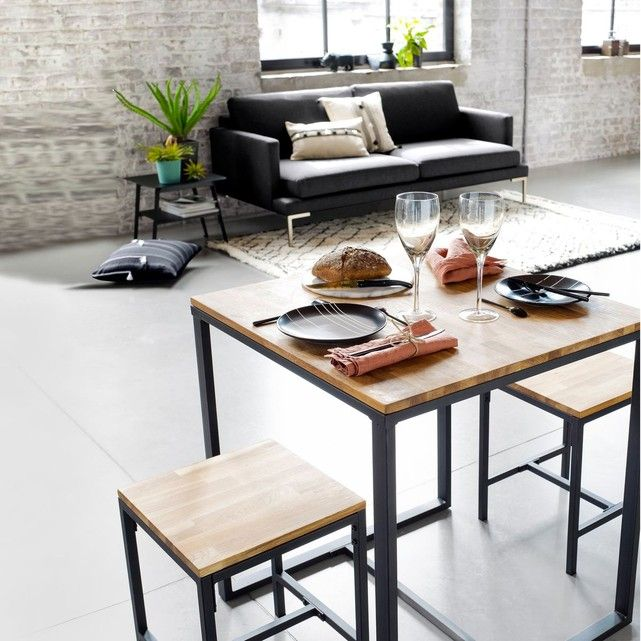 Table De Bistrot 2 Couverts Hiba Taille 2 Pers Table