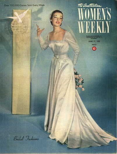 Bridal fashions from The Australian Woman's Weekly, 1950