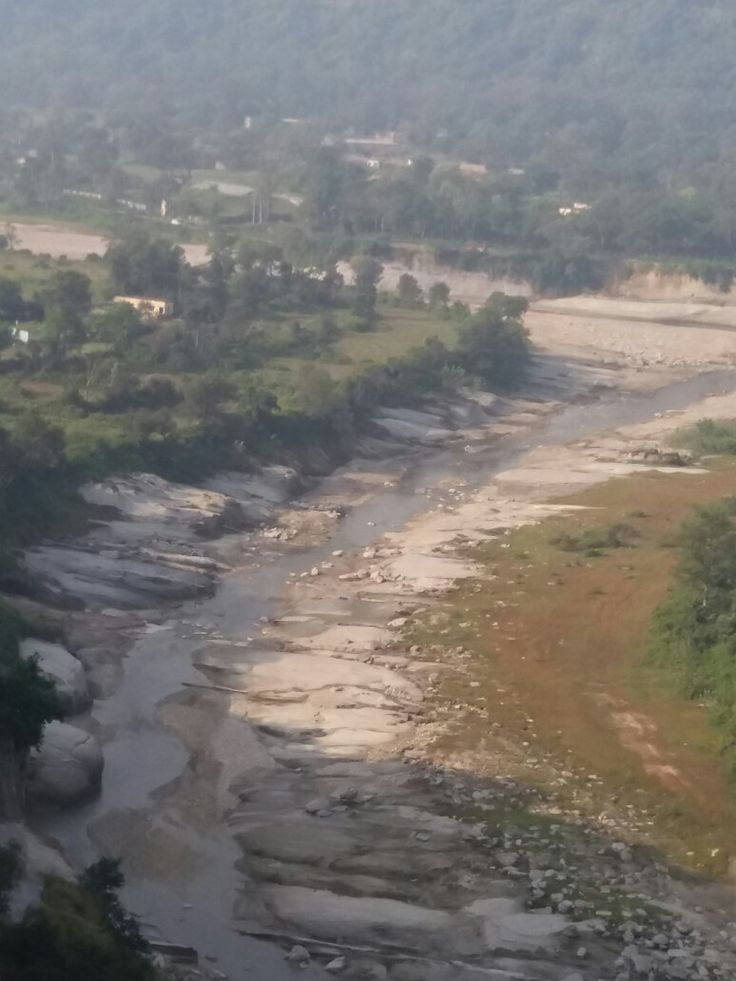 Hilly river bed - locally  called khad