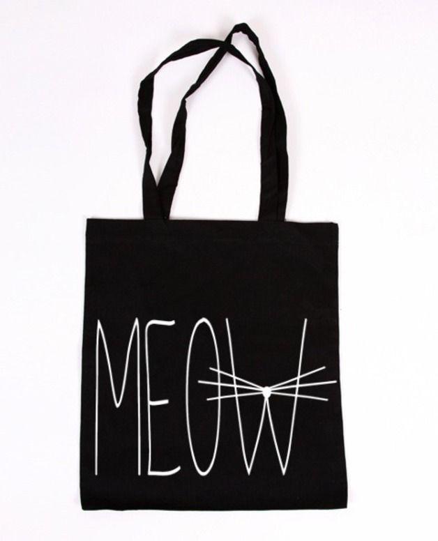 Jutebeutel - MEOW TOTE BAG! - ein Designerstück von Gossengold bei DaWanda