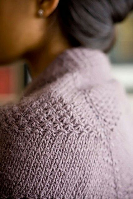 Hand Knit Sweater / Shoulder's design.: