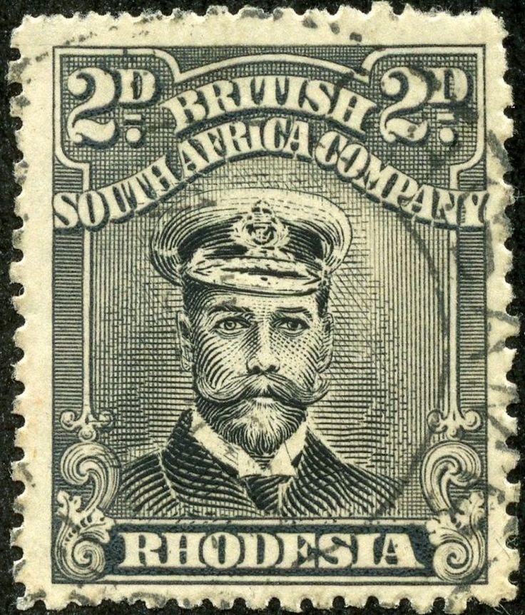 Rhodesia 1917 Scott 122a 2d gray & black, Die III