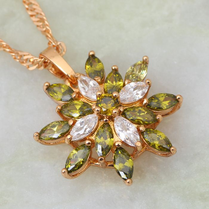 Find More Pendants Information about Wholesale 18K Gold plated Green cubic zirconia Peridot Flower Necklaces & pendants , fashion jewelry P157,High Quality jewelry wholesaler,China jewelry turkish Suppliers, Cheap jewelry box jewelry store from Dana Jewelry Co., Ltd. on Aliexpress.com