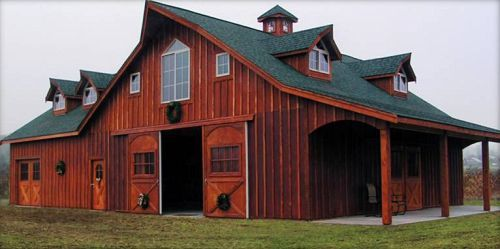 'The Great Western'. If I ever have horses...they would need a barn like this!: Hors Barns, Dreams Barns, Farms House, The Farms, Dreams House, Red Barns, Barns House, Barns Home, Westerns Style