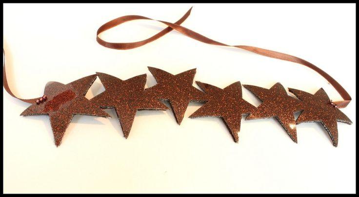 """Bandeau """"Star"""" marron pailleté"""